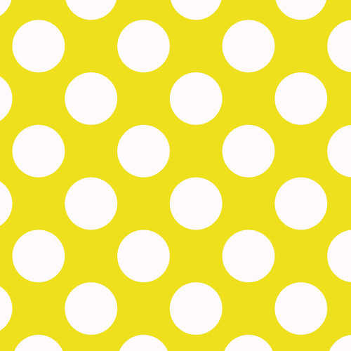 Westcott Large Dots Art Canvas Backdrop with Hook-and-Loop Attachment (3.5 x 3.5', Yellow)