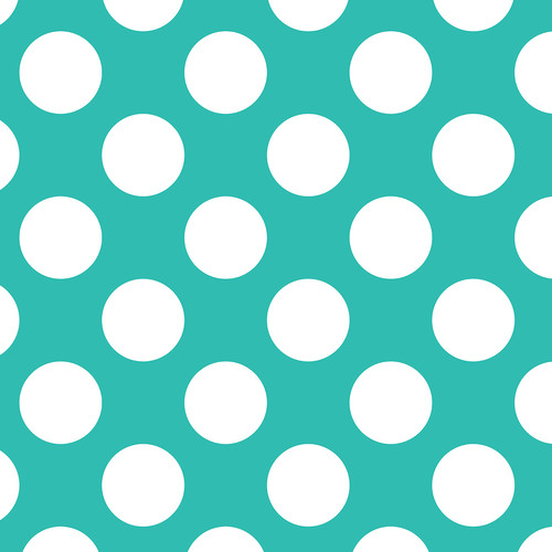 Westcott Large Dots Matte Vinyl Backdrop with Hook-and-Loop Attachment (3.5 x 3.5', Turquoise)