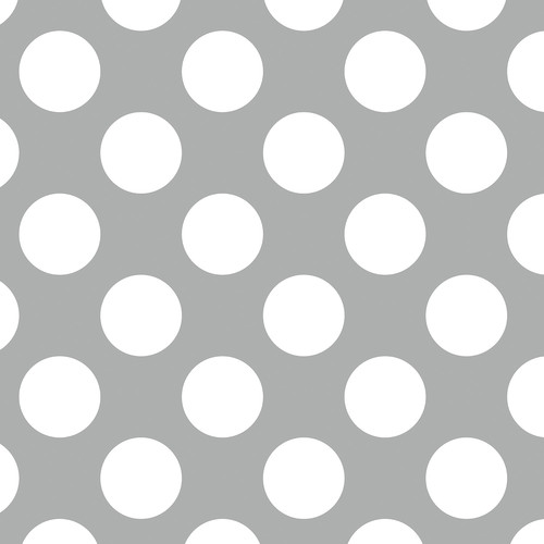 Westcott Large Dots Matte Vinyl Backdrop with Hook-and-Loop Attachment (3.5 x 3.5', Gray)