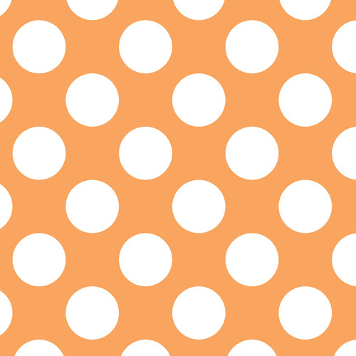 Westcott Large Dots Matte Vinyl Backdrop with Hook-and-Loop Attachment (3.5 x 3.5', Orange)