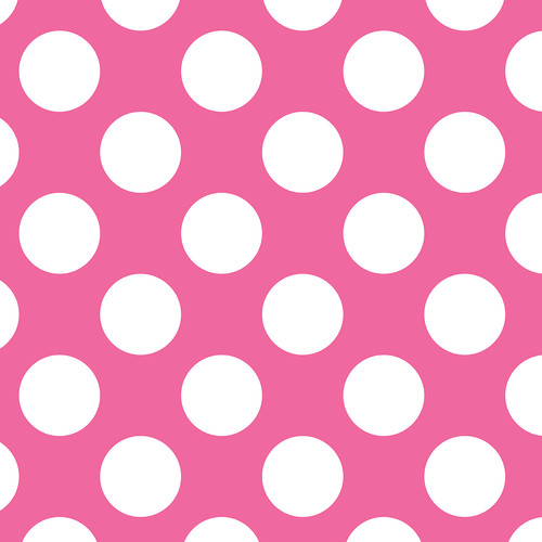 Westcott Large Dots Matte Vinyl Backdrop with Hook-and-Loop Attachment (3.5 x 3.5', Pink)