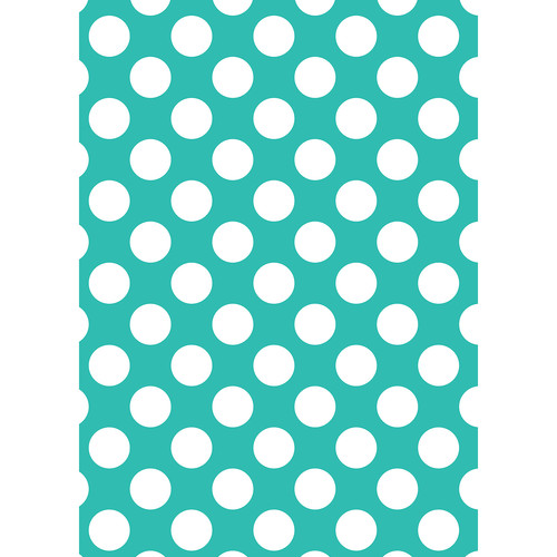 Westcott Large Dots Art Canvas Backdrop with Grommets (5 x 7', Turquoise)