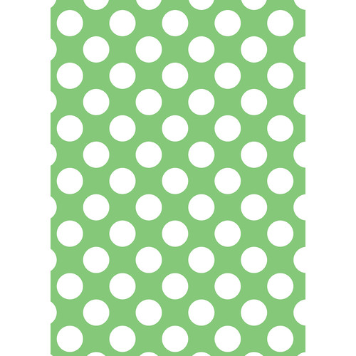 Westcott Large Dots Art Canvas Backdrop with Grommets (5 x 7', Green)