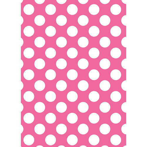 Westcott Large Dots Art Canvas Backdrop with Grommets (5 x 7', Pink)