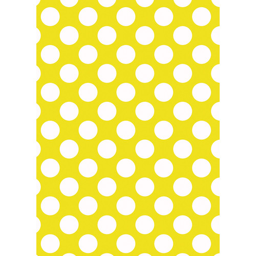 Westcott Large Dots Art Canvas Backdrop with Grommets (5 x 7', Yellow)