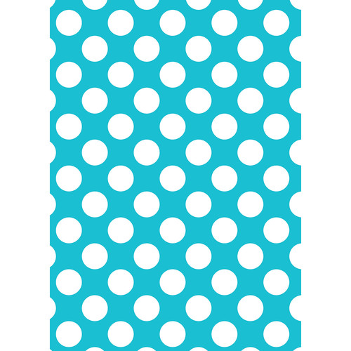 Westcott Large Dots Matte Vinyl Backdrop with Grommets (5 x 7', Blue)