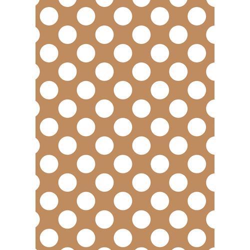 Westcott Large Dots Matte Vinyl Backdrop with Grommets (5 x 7', Brown)
