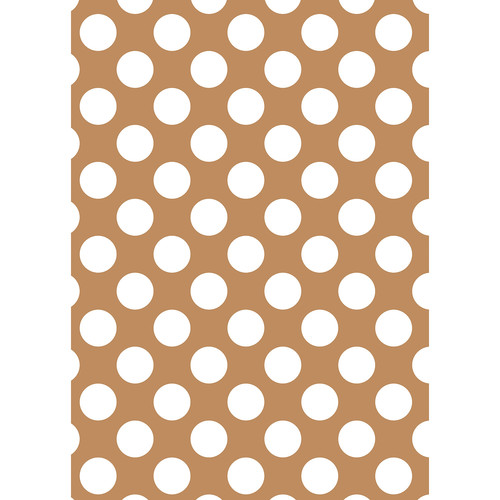 Westcott Large Dots Matte Vinyl Backdrop with Grommets (5 x 7', Brown)