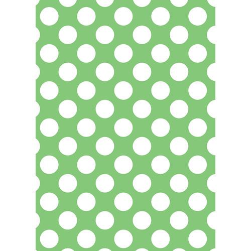 Westcott Large Dots Matte Vinyl Backdrop with Grommets (5 x 7', Green)