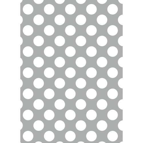 Westcott Large Dots Matte Vinyl Backdrop with Grommets (5 x 7', Gray)