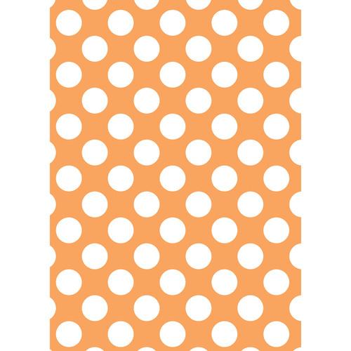 Westcott Large Dots Matte Vinyl Backdrop with Grommets (5 x 7', Orange)
