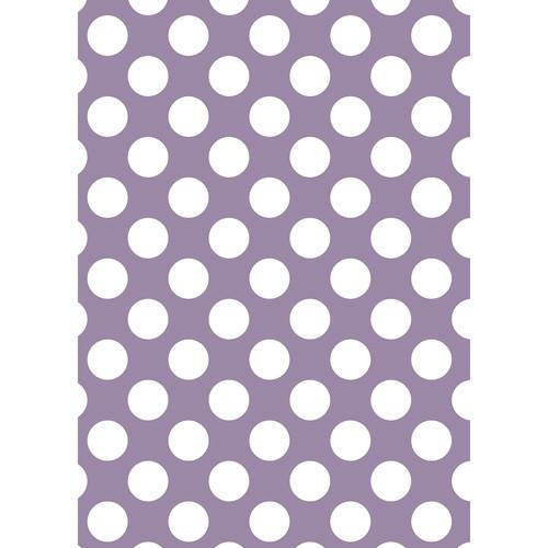 Westcott Large Dots Matte Vinyl Backdrop with Grommets (5 x 7', Purple)
