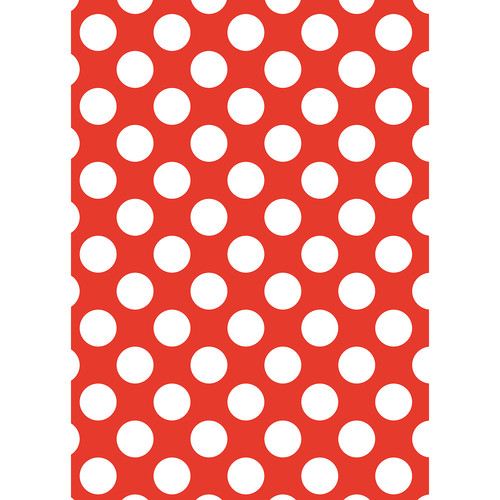 Westcott Large Dots Matte Vinyl Backdrop with Grommets (5 x 7', Red)