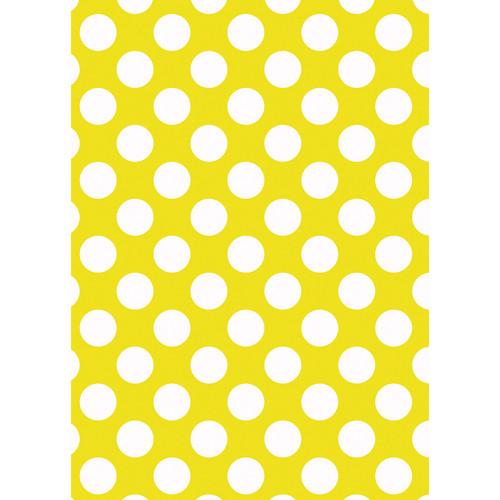 Westcott Large Dots Matte Vinyl Backdrop with Grommets (5 x 7', Yellow)