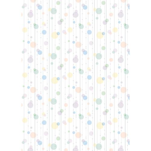 Westcott Party Dots Art Canvas Backdrop with Grommets (5 x 7', Sage)