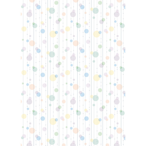 Westcott Party Dots Art Canvas Backdrop with Grommets (5 x 7', Sage)