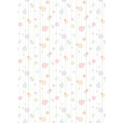 Westcott Party Dots Art Canvas Backdrop with Grommets (5 x 7', Pink)