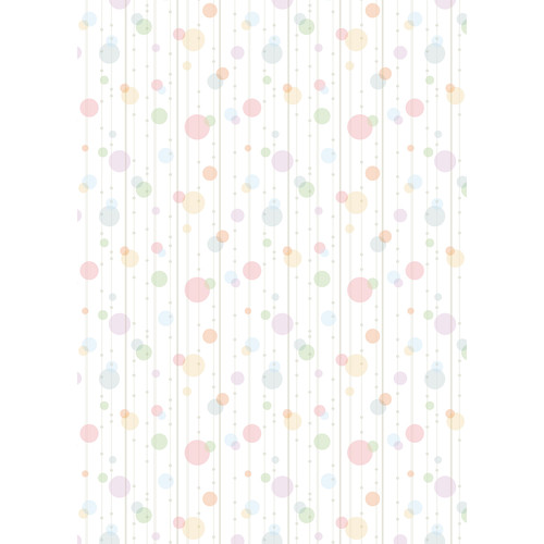 Westcott Party Dots Art Canvas Backdrop with Grommets (5 x 7', Red)