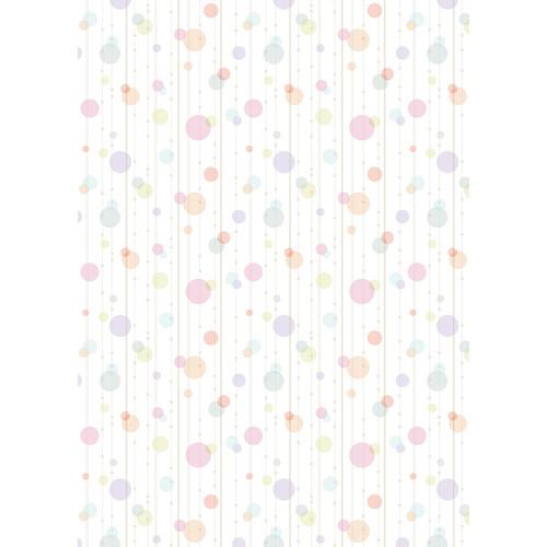 Westcott Party Dots Art Canvas Backdrop with Grommets (5 x 7', Fuschia)