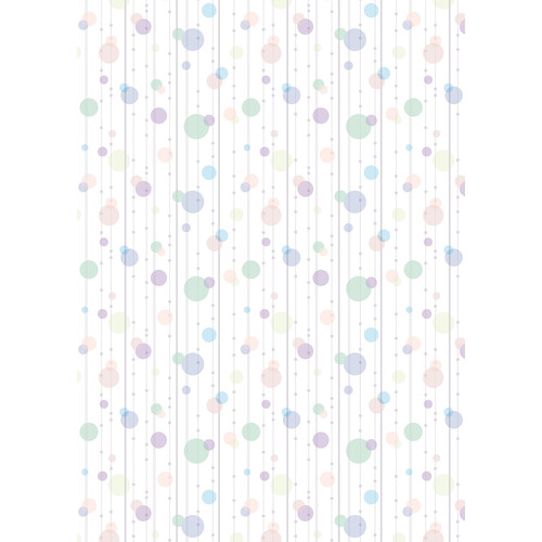 Westcott Party Dots Art Canvas Backdrop with Grommets (5 x 7', Green)