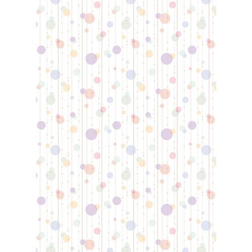 Westcott Party Dots Art Canvas Backdrop with Grommets (5 x 7', Purple)