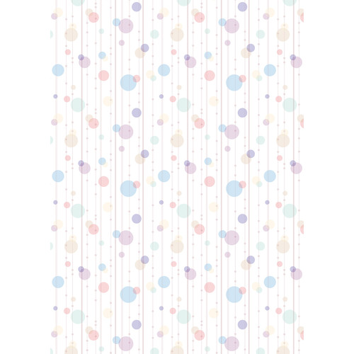 Westcott Party Dots Art Canvas Backdrop with Grommets (5 x 7', Blue)