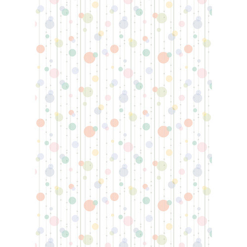 Westcott Party Dots Matte Vinyl Backdrop with Grommets (5 x 7', Orange)