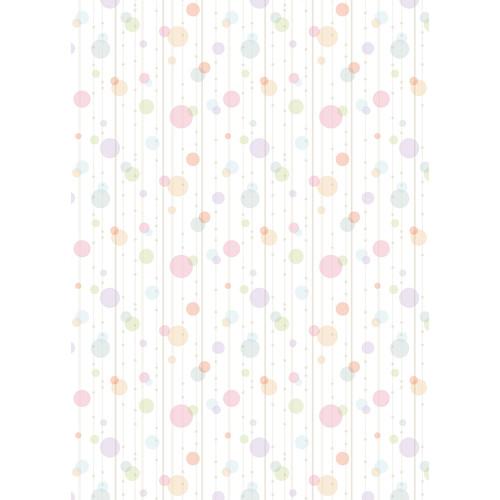 Westcott Party Dots Matte Vinyl Backdrop with Grommets (5 x 7', Pink)