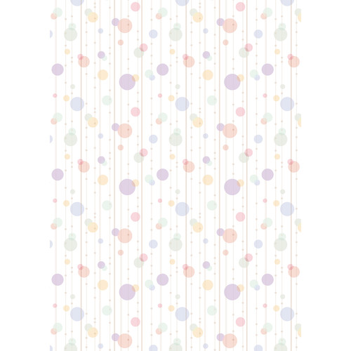 Westcott Party Dots Matte Vinyl Backdrop with Grommets (5 x 7', Purple)