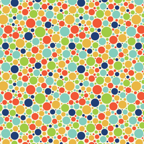 Westcott Vibrant Dots Matte Vinyl Backdrop with Hook-and-Loop Attachment (3.5 x 3.5', Multi-Color)