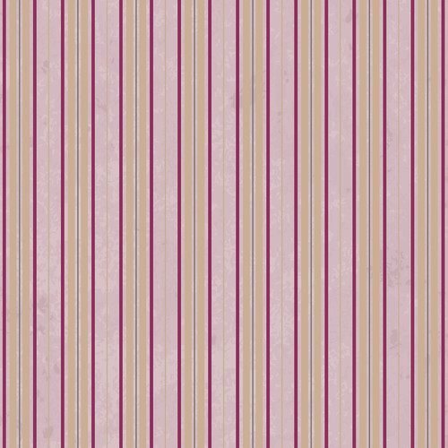 Westcott Striped Wallpaper Art Canvas Backdrop with Hook-and-Loop Attachment (3.5 x 3.5', Pink)