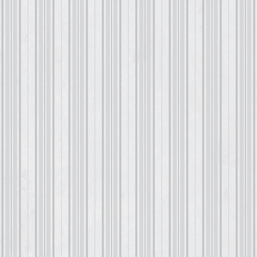 Westcott Striped Wallpaper Art Canvas Backdrop with Hook-and-Loop Attachment (3.5 x 3.5', White)
