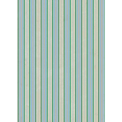 Westcott Striped Wallpaper Art Canvas Backdrop with Grommets (5 x 7', Turquoise)