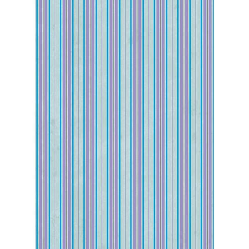 Westcott Striped Wallpaper Art Canvas Backdrop with Grommets (5 x 7', Blue)