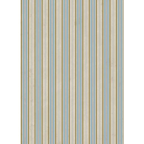 Westcott Striped Wallpaper Art Canvas Backdrop with Grommets (5 x 7', Brown)
