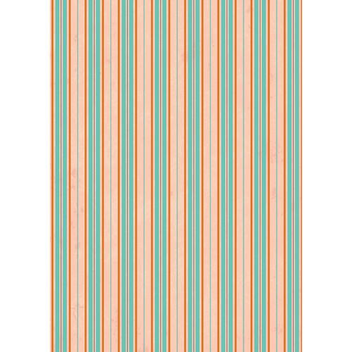 Westcott Striped Wallpaper Art Canvas Backdrop with Grommets (5 x 7', Orange)