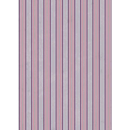 Westcott Striped Wallpaper Art Canvas Backdrop with Grommets (5 x 7', Purple)