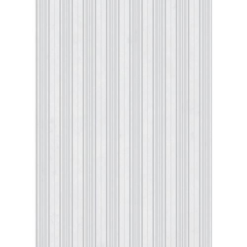 Westcott Striped Wallpaper Art Canvas Backdrop with Grommets (5 x 7', White)