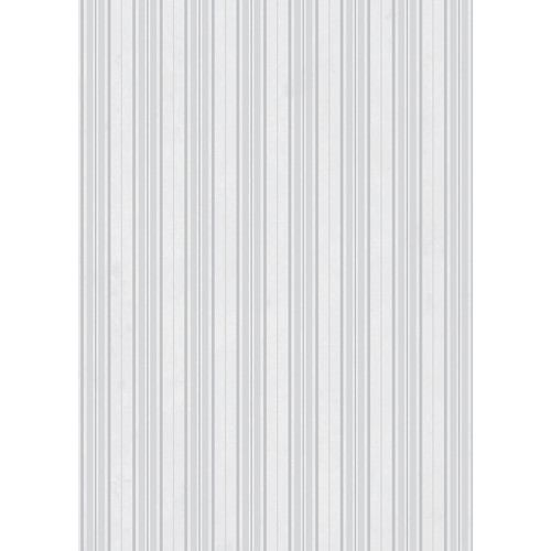Westcott Striped Wallpaper Art Canvas Backdrop with Grommets (5 x 7', White)