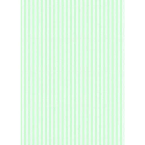 Westcott Paper Stripes Pattern Matte Vinyl Backdrop with Grommets (5 x 7', Green)