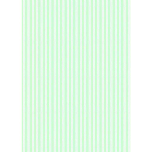 Westcott Paper Stripes Pattern Matte Vinyl Backdrop with Grommets (5 x 7', Green)