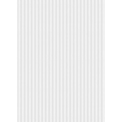Westcott Paper Stripes Pattern Matte Vinyl Backdrop with Grommets (5 x 7', Gray)
