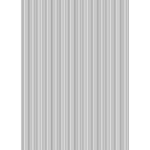 Westcott Vibrant Stripes Matte Vinyl Backdrop with Grommets (5 x 7', Light Gray)