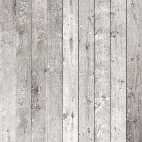 Westcott Wood Planks Matte Vinyl Backdrop with Hook-and-Loop Attachment (3.5 x 3.5', Rich Gray)