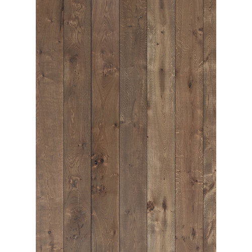 Westcott Wood Planks Pattern Matte Vinyl Backdrop with Grommets (5 x 7', Rich Brown)