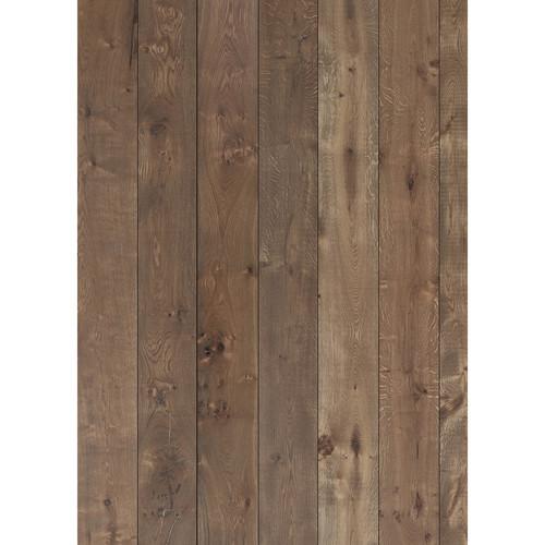Westcott Wood Planks Pattern Matte Vinyl Backdrop with Grommets (5 x 7', Rich Brown)