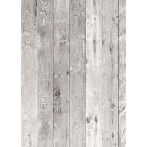 Westcott Wood Planks Pattern Matte Vinyl Backdrop with Grommets (5 x 7', Rich Gray)
