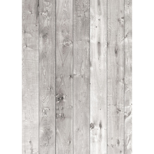 Westcott Wood Planks Pattern Matte Vinyl Backdrop with Grommets (5 x 7', Rich Gray)