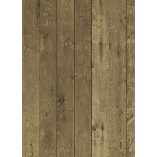Westcott Wood Planks Pattern Matte Vinyl Backdrop with Grommets (5 x 7', Rich Yellow)