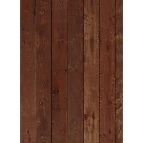 Westcott Wood Planks Art Canvas Backdrop with Grommets (5 x 7', Cherry)